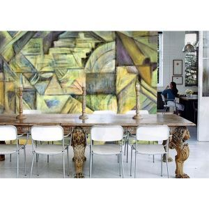 Contemporary Spring Abstract Non-Woven Paper Mural