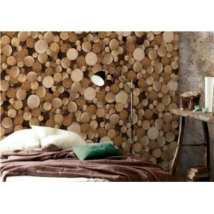 Contemporary Lumber Characteristic Non-Woven Paper Wall Paper