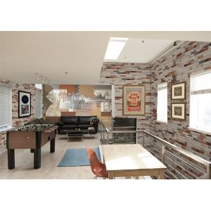 Contemporary Colourful Bricks Non-Woven Paper Wall Paper