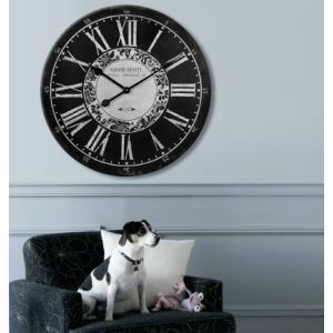 Modern Wall Clock in Black