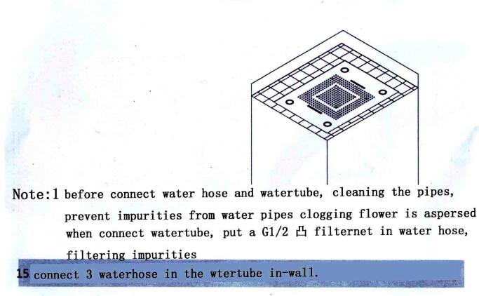Luxury Square Rain Nickel Finish LED Shower Faucet
