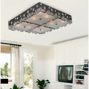 Modern/Contemporary Iron Electorplated LED Crystal Flush Mount Light Energy Saving