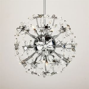 8-lights Floral Shape K9 Crystal ceiling lights