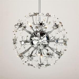 8-lights Floral Shape K9 Crystal ceiling lights
