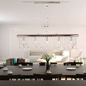 Rectangular Crystal Chandelier 5-light