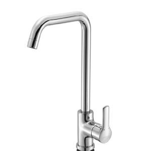 Solid Brass Rotatable Hot and Cold Kitchen Faucet-Chrome Finish
