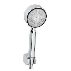 Contemporary A Grade ABS Round Color Changing LED Hanldheld Shower head