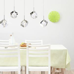 Stainless Steel 5-Light Mini Pendant Light with K9 Crystal ball Drop