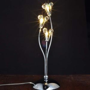 Table Light with 3 Lights -  Floral Design  (G4 Bulb Base)