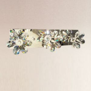 Crystal Wall Light with 3 Lights - Floral Shade
