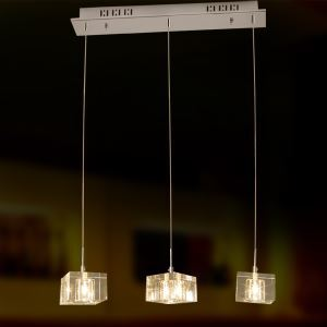 K9 Crystal Bar Pendant Light with 3 Lights