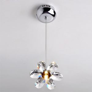 20W Pendant Light in ASF Crystal Floral Shape(G4 Bulb Base)