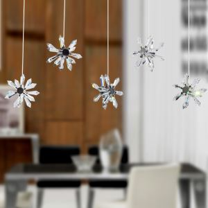 Crystal Mini Chandelier with 5 Lights - Floral Shade
