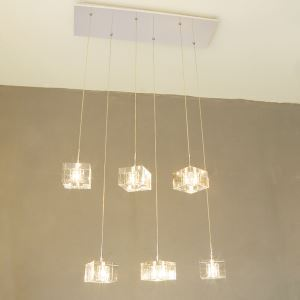 K9 Crystal Bar Pendant Light with 6 Lights
