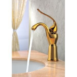 Classic Brass Single Hole Wash Golden Faucet with Single Lever