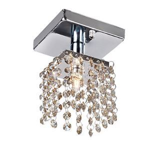 1 - Light Crystal Semi Flush Mount with 4 Colors Available