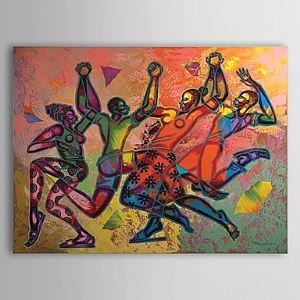 Hand Painted Oil Painting Abstract Dancer 1303-AB0416