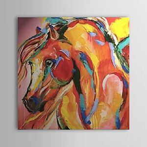 Hand Painted Oil Painting Abstract Horse 1303-AB0425