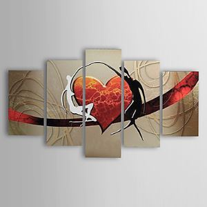 Hand-painted Oil Painting Abstract Love Set of 5 1302-AB0310