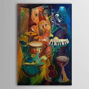 Hand Painted Oil Painting Abstract Music 1303-AB0419