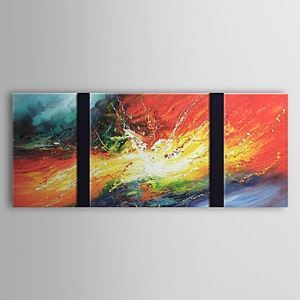 Hand Painted Oil Painting Abstract Set of 3 1303-AB0398