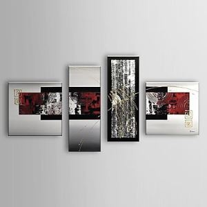 Hand Painted Oil Painting Abstract Set of 4 1303-AB0404