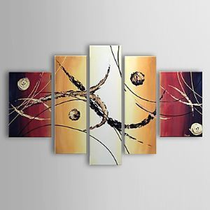 Hand-painted Oil Painting Abstract Set of 5 1302-AB0307