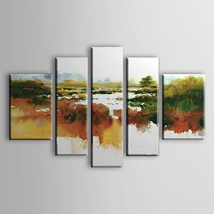 Hand-painted Oil Painting Abstract Set of 5 1302-AB0315