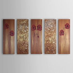 Hand Painted Oil Painting Abstract Set of 5 1303-AB0395