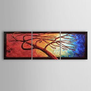 Hand-painted Oil Painting Abstract Tree Set of 3 1302-AB0304