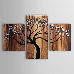 Hand-painted Oil Painting Abstract Tree Set of 3 1302-AB0317