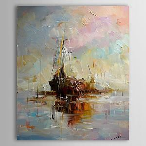 Hand Painted Oil Painting Abstract Vessel 1303-AB0412