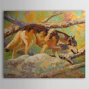 Hand Painted Oil Painting Animal 1304-AN0084