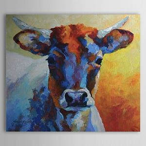 Hand Painted Oil Painting Animal Bull 1304-AN0077