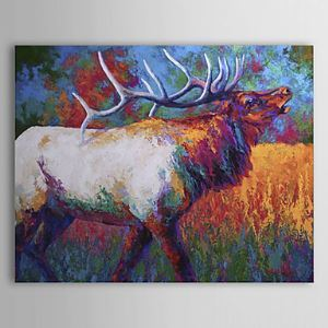Hand Painted Oil Painting Animal Deer 1304-AN0080