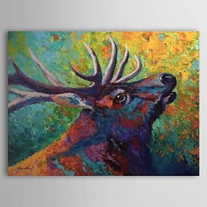 Hand Painted Oil Painting Animal Deer 1304-AN0081