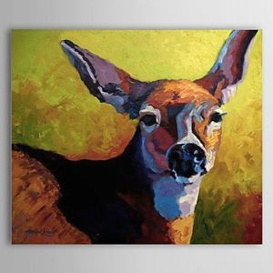 Hand Painted Oil Painting Animal Deer 1304-AN0082