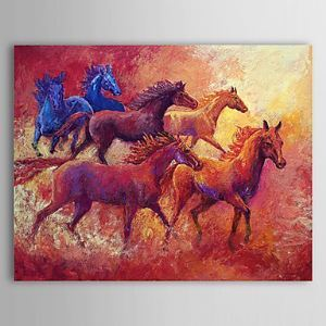 Hand Painted Oil Painting Animal Horse 1304-AN0070