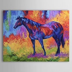 Hand Painted Oil Painting Animal Horse 1304-AN0075