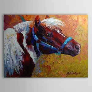 Hand Painted Oil Painting Animal Horse 1304-AN0078