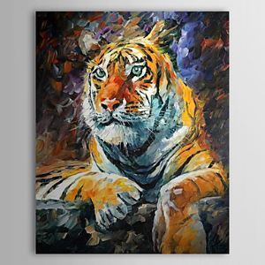 Hand Painted Oil Painting Animal Tiger 1304-AN0066