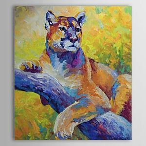 Hand Painted Oil Painting Animal Tiger 1304-AN0085