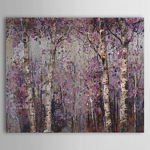 Hand Painted Oil Painting Botanical Forest 1305-FL0128