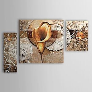 Hand-painted Oil Painting Floral Calla Lily Set of 3 1302-FL0059