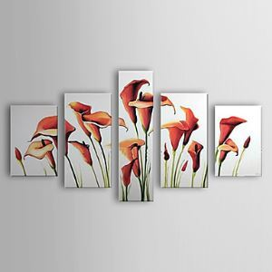 Hand-painted Oil Painting Floral Calla Lily Set of 3 1302-FL0069