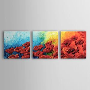 Hand-painted Oil Painting Floral Set of 3 1302-FL0067