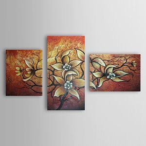 Hand Painted Oil Painting Floral Set of 3 1303-FL0073