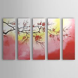 Hand-painted Oil Painting Floral Set of 5 1302-FL0064