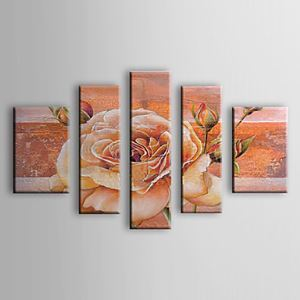Hand-painted Oil Painting Floral Set of 5 1302-FL0071