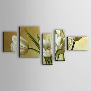 Hand-painted Oil Painting Floral Set of 5 1302-FL0072